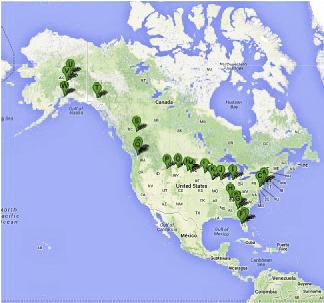 Karte USA Route 2012-LR